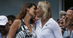 """""""I have been waiting for the right time to ask Julia to marry me."""" http://www.pinknews.co.uk/2014/09/07/tennis-legend-martina-navratilova-proposes-to-girlfriend-at-us-open/"""