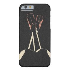 Abstract nude pop art, rear view, woman body red barely there iPhone 6 case
