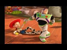 """Buzz and Jessie dance to """"You've Got A Friend In Me"""" in Spanish in Toy Story 3 - this dance always makes me grin like an idiot  :D"""