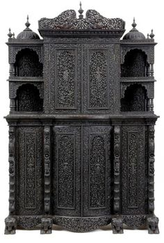 19th Century Anglo Indian Rosewood Breakfront Cabinet | EBay · Indian  FurnitureWood FurnitureAntique ...