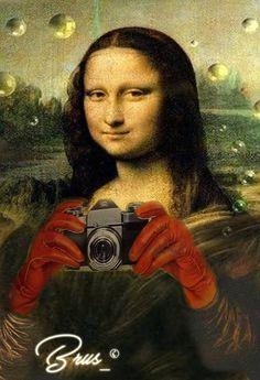 Real Mona Lisa, Mona Lisa Smile, Van Gogh, La Madone, Mona Lisa Parody, Old Movie Posters, Renaissance Artists, Lion Art, Star Wars