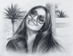 Portrait of a girl in sunglasses http://www.art-portrets.ru/portrait-girl-in-sunglasses.html