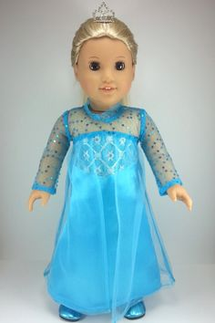 Hey, I found this really awesome Etsy listing at https://www.etsy.com/listing/215123550/american-girl-doll-clothes-frozen-elsa