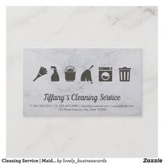 Cleaning Service | Maid Cleaning Supplies Business Card