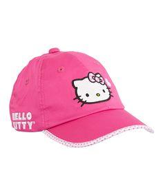 HK  ❣  HELLO KITTY Magenta Sports Love Baseball Cap