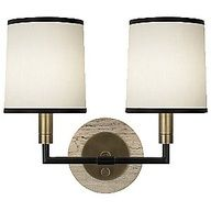 Axis Double Wall Sconce by Robert Abbey. Luscious lighting - Live lusciously with LUSCIOUS: www.myLusciousLife.com