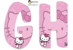 alphabet hello kitty Birthday Numbers, Happy Birthday Banners, Hello Kitty Birthday Theme, Hello Kitty Rooms, Alphabet And Numbers, Alphabet Letters, Party Needs, Cat Party, Cute Cartoon Wallpapers