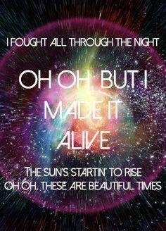 Beautiful Times, Owl City lyrics