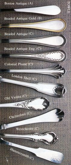Towle Stainless flatware patterns