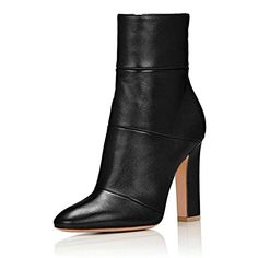 Descendants Costumes Cicime Black Booties Womens Shoes Size 8 Ankle Boots For Women Dress High Block Chunky Heels Pumps * Click for more Special Deals #AnkleBootsSALE