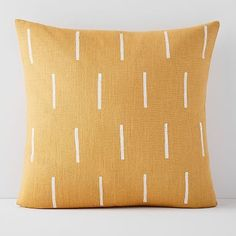 Flax & Symbol Pillow Cover – Mustard Lines Flax & Symbol Pillow Cover – Mustard Lines,Nursery Finalists Throw Pillows & Decorative Pillows Yellow Throw Pillows, Modern Throw Pillows, Cute Pillows, Linen Pillows, Accent Pillows, Decorative Pillows, Pillows On Bed, Modern Pillow Covers, Diy