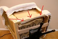 Extremely detailed re-upholstering tutorial from Make It & Love It
