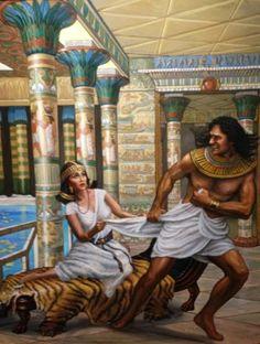 Génesis 39: 7-9 Aconteció después de esto, que la mujer de su amo puso sus ojos en José, y dijo: Duerme conmigo. Y él no quiso, y dijo a la mujer de su amo: He aquí que mi señor no se preocupa conmigo de lo que hay en casa, y ha puesto en mi mano todo lo que tiene. No hay otro mayor que yo en esta casa, y ninguna cosa me ha reservado sino a ti, por cuanto tú eres su mujer; ¿cómo, pues, haría yo este grande mal, y pecaría contra Dios?