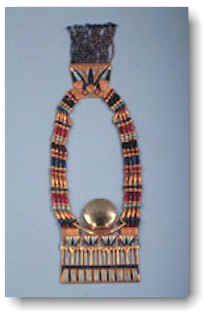 Pectoral de Tutankhamon echo en oro, obsidiana, turquesa, carnelian y lapislázuli.