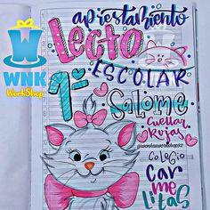 Diy Notebook, Border Design, Stories For Kids, Diy Paper, Hand Lettering, Anime, Arts And Crafts, Doodles, Bullet Journal