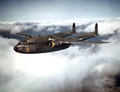 "A USAF Fairchild C-119B-10-FA Flying Boxcar of the 314th Troop Carrier Group in 1952. This aircraft was later converted to an C-119C in 1955/56. Original caption:""The 314th Troop Carrier Group C-119 Flying Boxcars do not start out for the ""mountain"" unless weather reports are good. They must be able to see the tiny drop zone on the peak before they can drop.But weather is so unpredictable in the high mountains, that often when the planes arrive, the entire area is ""socked in"" with heavy…"