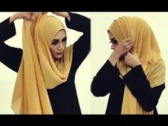 Quick Naqaab Styles Using A Hijab Abaya Fashion, Muslim Fashion, Turkish Hijab Style, How To Wear Hijab, Hijab Style Tutorial, Fancy Jewellery, Hijab Niqab, Hijabi Girl, Beautiful Hijab