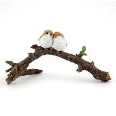 Top Collection 4404 Miniature Fairy Garden & Terrarium Lover Birds On Branch Sta