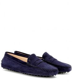 Tod's Gommini suede loafers on shopstyle.com