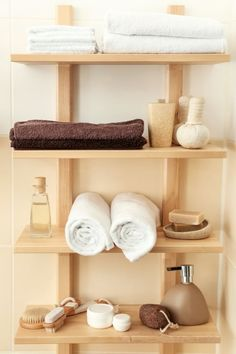 Bathroom Storage Ideas for Small Bathroom – On a Budget yet Clever Spa Like Bathroom, Tiny Bathrooms, Small Bathroom Storage, Diy Bathroom Decor, Budget Bathroom, Small Storage, Amazing Bathrooms, Storage Ideas, Small Bookshelf