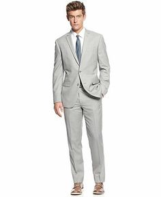 Bar III Extra Slim Suit Separates, Light Grey Slim Fit - Suits ...