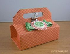 stampin up, origami box