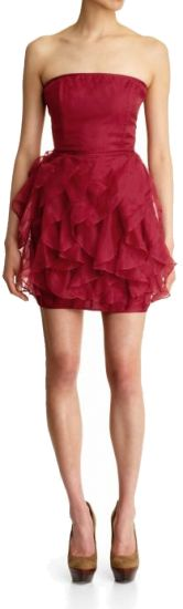 """Rachel Zoey Red Organza Dress. """" It was worn by Brit Robertson who plays Cassie Blake in the short lived 'Secret Circle.' The dress was amazing beautiful on Britt. The pic above doesn't do the dress justice!"""" SMG"""