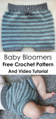 Cute and very soft baby bloomers. Free crochet pattern in danish. #freecrochetpattern #freecrochet #crochetbaby #easycrochet #patterncrochet #crochetbabyclothes #crochetbabybloomers #crochetbabyshorts #thingstocrochet #crochetbabypants