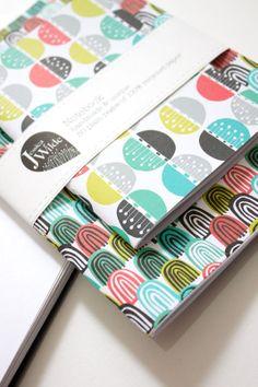 "Handmade ""Carnival"" Notebook Set by Jessica Wilde Designs"