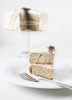 roasted banana cake with browned butter cream cheese frosting, via the faux martha.