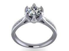 JEWELRY ENGAGEMENT RING STL FILE FOR DOWNLOAD AND PRINT- CC22 | 3D Print Model