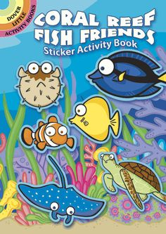 Kids can create their own underwater fantasies with these 74 colorful stickers. Playful images include a grinning shark, roly-poly pufferfish, saucer-eyed flounder, and a host of other deep-sea denizens. Includes a play scene.