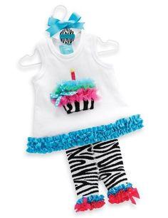 Mud Pie Baby-Girls Wild Child Zebra Tunic And Capri Set