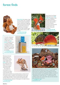 Gift Focus Magazine Issue 87 January / February 2015 featuring our Fox Tales Woodland Design Giftware Range