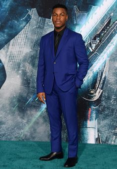 "John Boyega Photos - John Boyega attends Universal's ""Pacific Rim Uprising"" premiere at TCL Chinese Theatre IMAX on March 2018 in Hollywood, California. - John Boyega Photos - 30 of 1123 Blue Suit Men, John Boyega, Best Dressed Man, Pacific Rim, In Hollywood, Hollywood California, Workout Pants, Mens Suits, Gq"