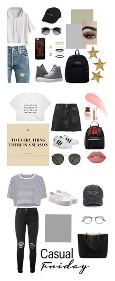 """""""collection"""" by deichaac on Polyvore featuring Levi's, Converse, Thrills, Ace, CLUSE, Accessorize, JanSport, RE/DONE, T-shirt & Jeans and Ray-Ban"""