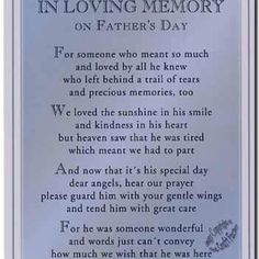 In memory of my Daddy