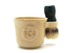 b8c386e697 Shaving Mug with a Monogram Brush Not Included Father or Husband Gift Made  to Order in 4 to 6 Weeks