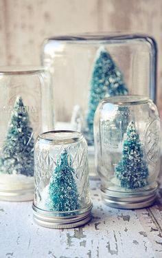 DIY snowglobe wedding favour