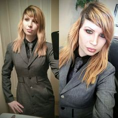 Tie, Facial Expressions, Female, Coat, How To Wear, Jackets, Shirts, Outfits, Black