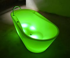 Neon Illuminated Bathtub See more at http://giftmatters.com/neon-illuminated-bathtub/