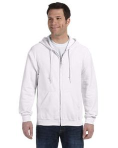Heavy Blend 8 oz., 50/50 Full-Zip Hood: WHITE - 5XL