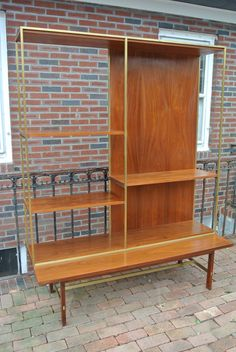 Paul Mccobb for Calvin Room Divider | From a unique collection of antique and modern bookcases at https://www.1stdibs.com/furniture/storage-case-pieces/bookcases/