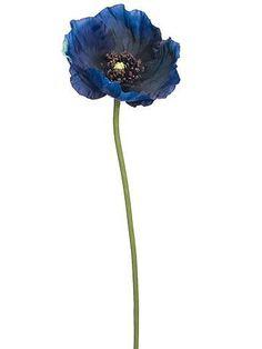 Navy Blue Flowers, Blue Wedding Flowers, Silk Flowers, Poppy Flowers, Green Wedding, Colorful Flowers, Spring Flowers, Blue Flower Arrangements, Wedding Flower Guide