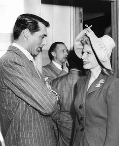 Cary Grant Chats With Irene Manning At The Hollywood Canteen