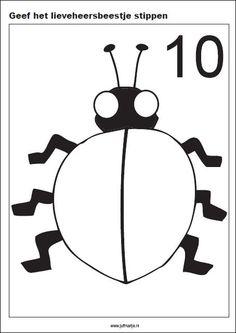Kleikaarten zwart/wit Bug Activities, Numicon, Plasticine, Monthly Themes, Preschool Kindergarten, Best Teacher, Pre School, Ladybug, Homeschool