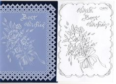 Parchment - best wishes card - with patten