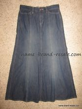 OLD NAVY denim Jean long flare modest skirt womens size 2