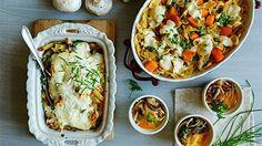 Zapečené těstoviny 3x jinak: S dýní, houbami i karamelizovanoucibulkou
