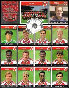 Arsenal 1988-89 Panini Football 89 stickers